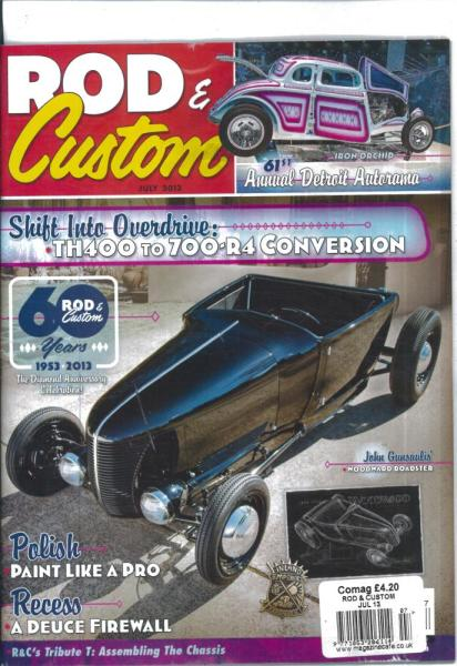 Rod and Custom magazine subscription