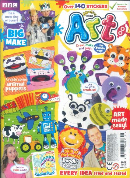 Cbeebies Art magazine subscription