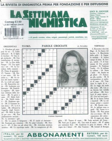 Settimana Enigmistica magazine subscription