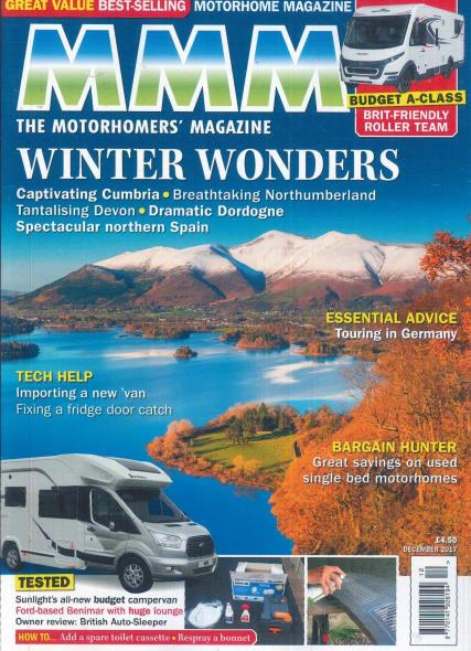 M M M (Motorcaravan Motorhome Monthly) magazine subscription
